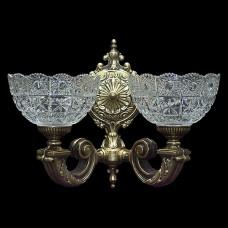 Светильник настенный (бра) из хрусталя ХН-О-20 КК Медальон
