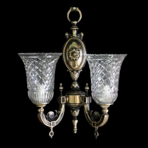 Светильник настенный (бра) из хрусталя ХН-О-2 Орнамент
