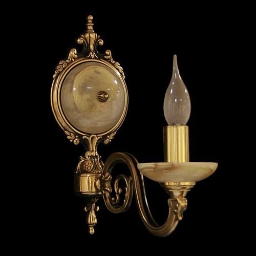 Светильник настенный (бра) из камня НК-О-20-1 ЛАТА СВ (100) Белый оникс
