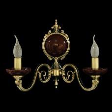 Светильник настенный (бра) из камня НК-О-20 ЛАТА СВ (100) Бордовая яшма