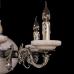 Люстра из камня НК-О-6 АКС Никель Белый мрамор