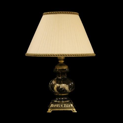 Настольная лампа из камня НК-О-05М Черный мрамор