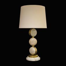 Настольная лампа из камня НК-О-07 Белый мрамор