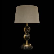 Настольная лампа из камня НК-О-08 Зеленая яшма