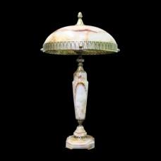 Настольная лампа из камня НК-О-12 ОВ Белый оникс