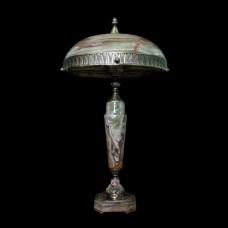 Настольная лампа из камня НК-О-12 ОВ Зеленый оникс