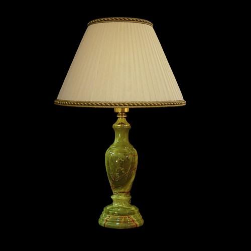 Настольная лампа из камня НК-О-14М Зеленый оникс
