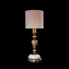 Настольная лампа из камня НК-О-09 Мира Белый мрамор