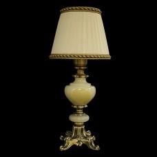 Настольная лампа из камня НК-О-04 Белый оникс