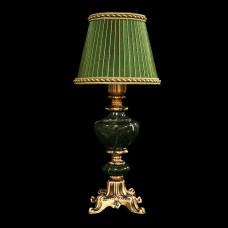 Настольная лампа из камня НК-О-04 Зеленая яшма