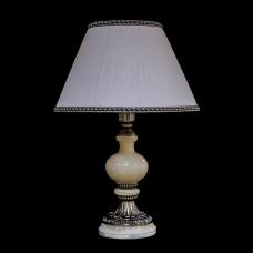 Настольная лампа из камня НК-О-06 Никель