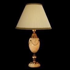 Настольная лампа из камня НК-О-16 Белый оникс