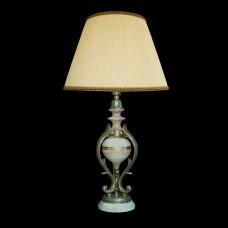 Настольная лампа из камня НК-О-26 Белый оникс