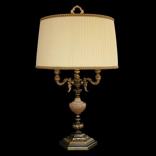 Настольная лампа из камня НК-О-33 Розовый мрамор