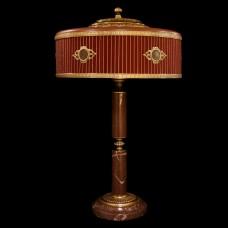 Настольная лампа из камня НК-О-48 Бордовая яшма
