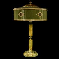 Настольная лампа из камня НК-О-48 Зеленый оникс