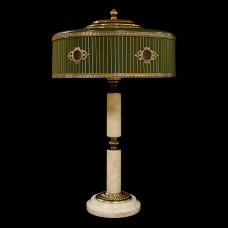 Настольная лампа из камня НК-О-48 Белый мрамор