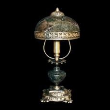 Настольная лампа из камня НК-О-02 ОВМ Зеленая яшма