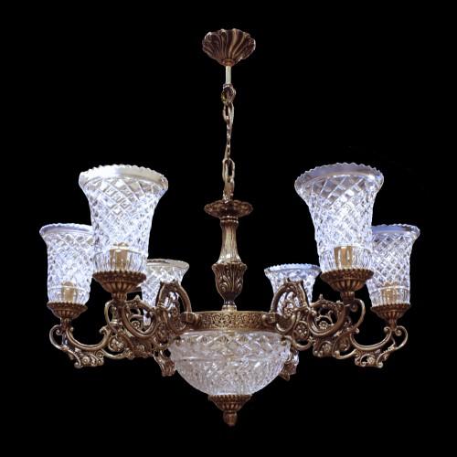 Люстра из хрусталя ХН-О-6 Лира Орнамент
