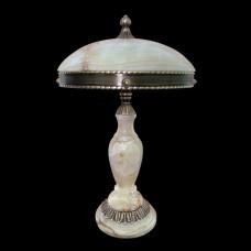 Настольная лампа из камня НК-О-14 ОВ Белый оникс